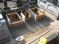 鉄筋配置・型枠設置