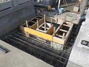 鉄筋入り基礎コンクリート